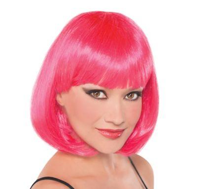 Neon Pink Hottie Wig