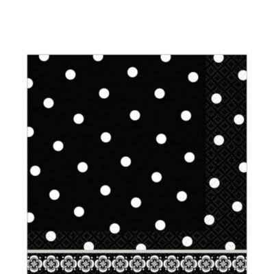 Damask & Polka Dot Lunch Napkins 36ct