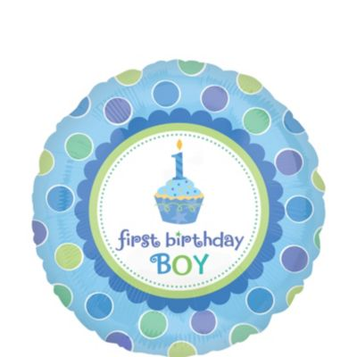 1st Birthday Balloon - Li'l Cupcake Boy