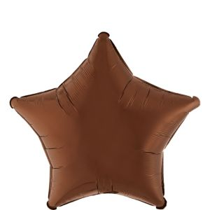 Chocolate Brown Star Balloon
