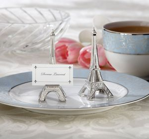 Silver Eiffel Tower Place Card Holders