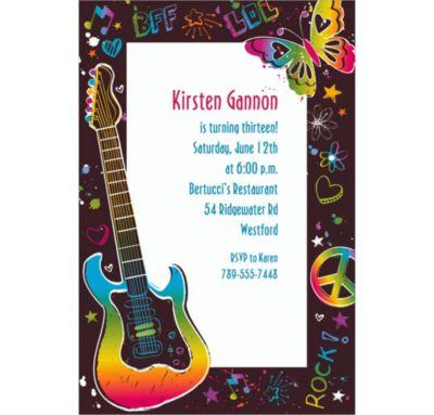Neon Doodle Custom Invitation