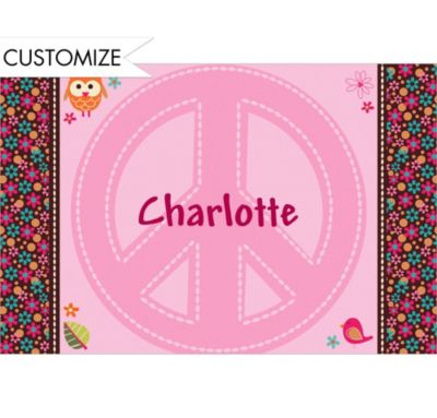 Custom Hippie Chick Thank You Notes