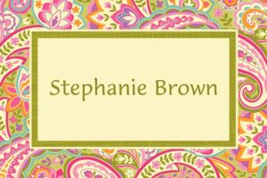 Custom Pretty Paisley Thank You Notes