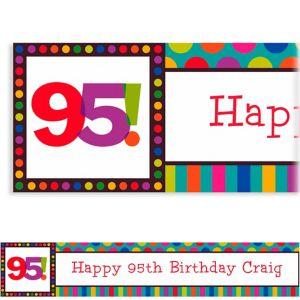 Custom Birthday Dots & Stripes 95th Banner 6ft
