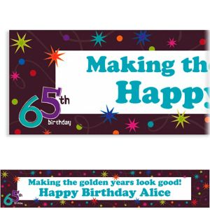 Custom The Party Continues 65th Banner 6ft