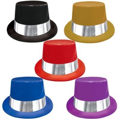Plastic Top Hats 5ct