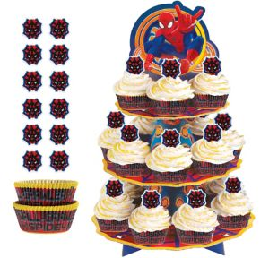 Deluxe Spider-Man Cupcake Kit for 24