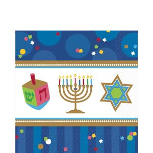 Hanukkah Celebrations Lunch Napkins 36ct