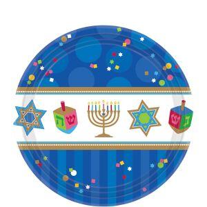 Hanukkah Celebrations Dessert Plates 18ct
