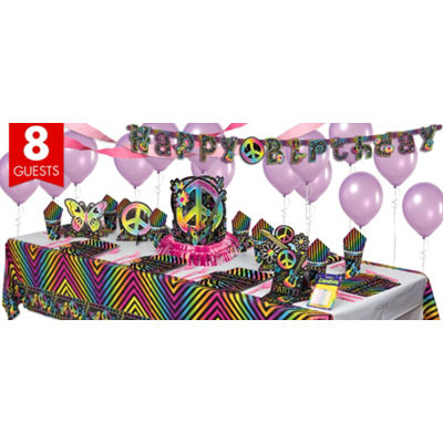 category party ideas birthday girls neon doodledo
