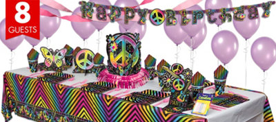 Neon Birthday Party Supplies Super Party Kit