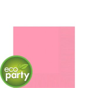 Eco Friendly Pink Beverage Napkins 50ct