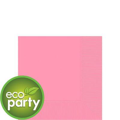 Eco Friendly Pink Beverage Napkins 50ct