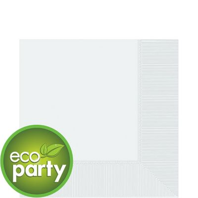 Eco Friendly White Lunch Napkins 50ct
