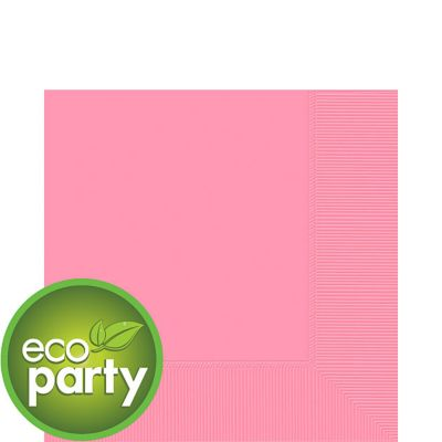 Eco Friendly Pink Lunch Napkins 50ct