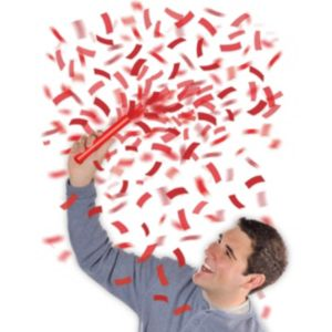 Red Flutter Tissue Paper Confetti Wands 6ct