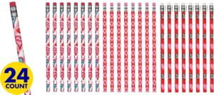 Trendy Valentine's Day Pencils 24ct