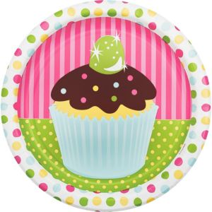 Cupcake Party Dinner Plates 8ct