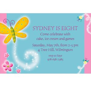 Custom Dazzling Butterfly Invitations