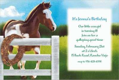Giddy Up Custom Invitation