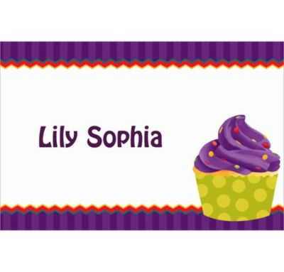 Custom 1st Cupcake Thank You Notes