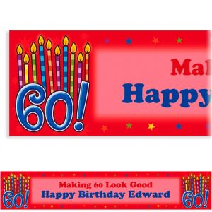 Custom Great Birthday 60th Banner 6ft