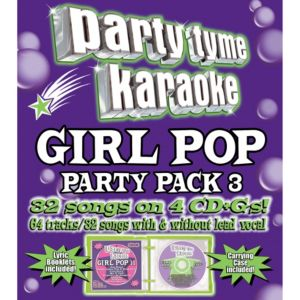 Girl Pop Party Pack Party Tyme Karaoke CDs 4ct