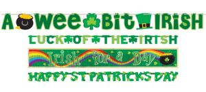St. Patrick's Day Banners 4ct