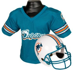Child Miami Dolphins Helmet & Jersey Set