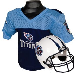 Child Tennessee Titans Helmet & Jersey Set