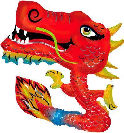 Foil Chinese New Year Dragon Balloon