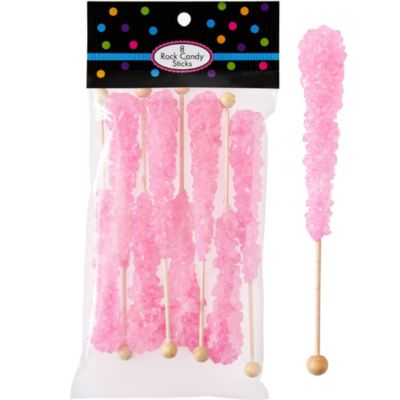 Light Pink Rock Candy Sticks 8pc