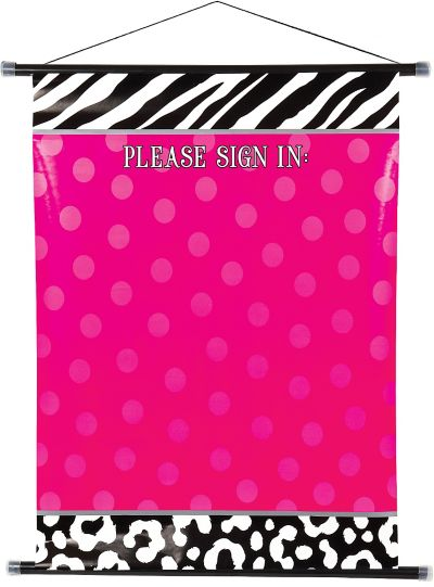 Zebra Party Sign-In Sheet