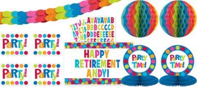 Cabana Polka Dot Personalize It Decorating Kit 11pc