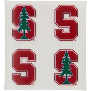 Stanford Cardinal Face Decals 4ct