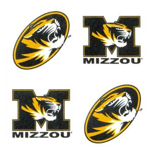 Missouri Tigers Face Tattoos 4ct