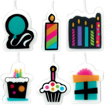 Party On Birthday Candles 6ct