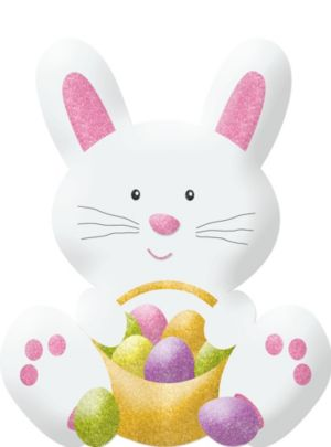 Glitter Easter Bunny Decoration