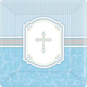Boy's Communion Blessings Dinner Plates 8ct