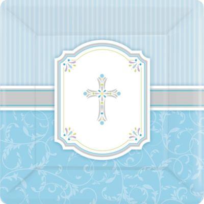 Boy's Communion Blessings Dinner Plates 8ct
