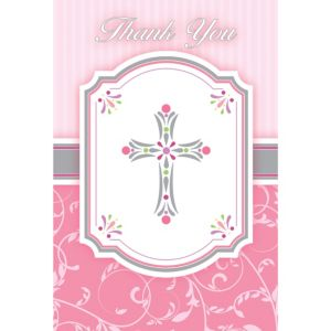 Girl's Communion Blessings Thank You Postcards 20ct