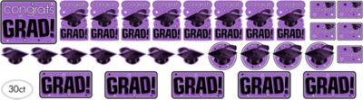 Purple Graduation Cutouts 30ct