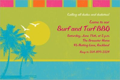 Custom Summer Dreams Invitations