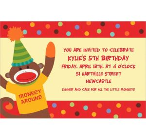Custom Monkey Party Invitations