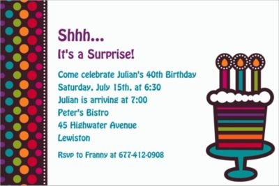 Custom Party On Celebration Invitations