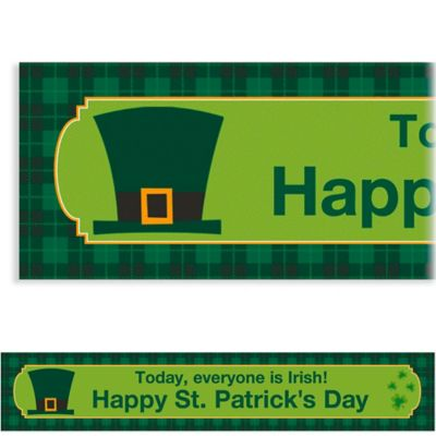 St. Paddy's Day Plaid Custom Banner