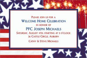 Custom Star Spangled Banner Welcome Home Invitations