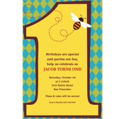 Custom Number One Invitations