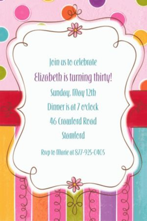 Custom Sweet Stuff Invitations